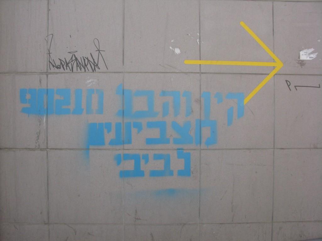 קין והבל מצביעים לביבי רחוב העמל 24-12-12