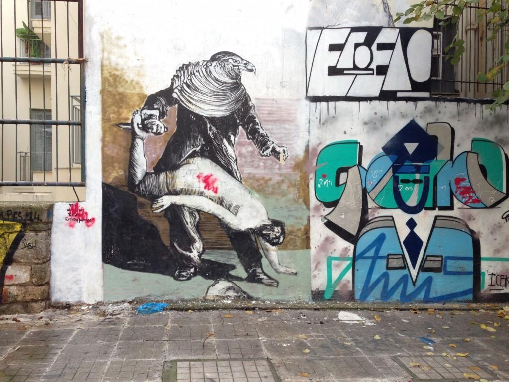 באתונה היאוש יותר נוח – גרפיטי פוליטי ואמנותי